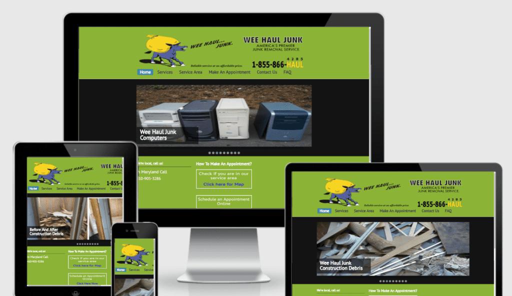 service business websites junk hauling
