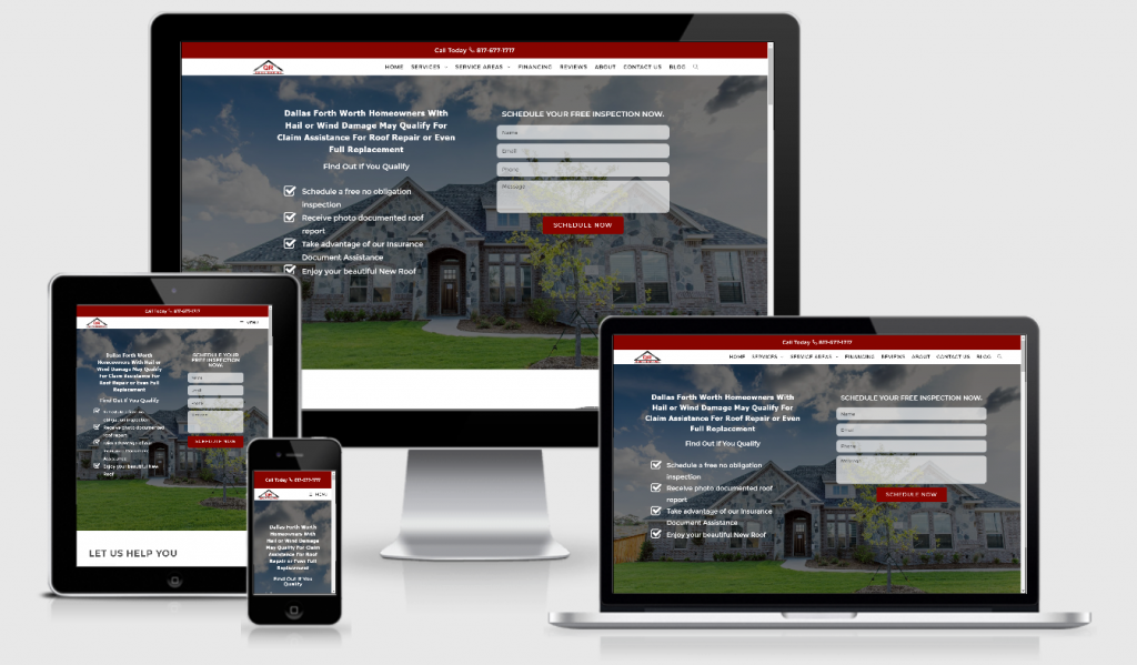Roofing contractor web design